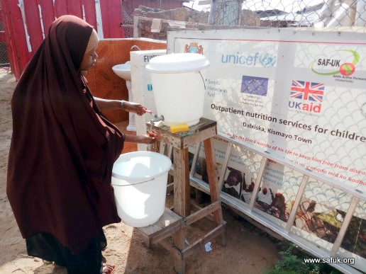 Hygiene promotion in our health centre in Kismayo